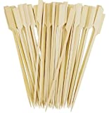 6 Inch Oriental Creations Wooden Bamboo Picks Paddle Skewers Pack of 100