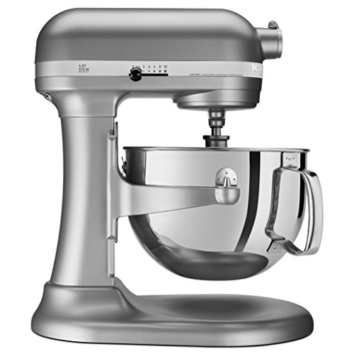 KitchenAid RKP26M1XSL Professional 600 6-Qt. Bowl-Lift Stand Mixer, Renewed
