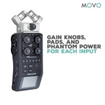 Zoom-H6-Six-Track-Portable-Handy-Recorder-Bundle-with-Movo-Omnidirectional-and-Cardioid-XLR-Lavalier-Microphones