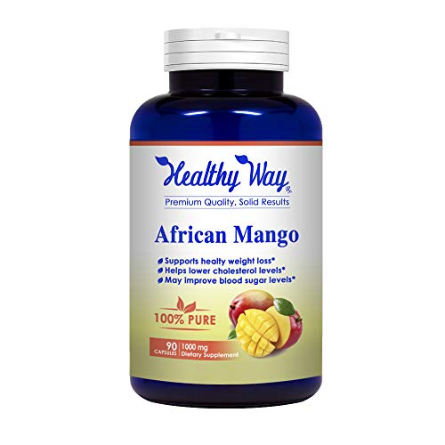 Healthy Way Best African Mango Cleanse - Extra Strong Pure 100% Fat Burner Fat Weight Loss Diet Pills - NON-GMO USA Made 100% Money Back Guarantee - Order Risk Free!