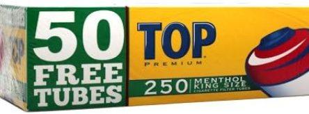 Top Menthol RYO Cigarette Tubes