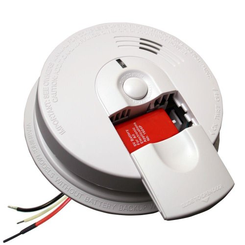 Kidde FireX Hardwire Smoke Detector with 9V Battery Backup and Front Load Battery Door | Model i4618AC