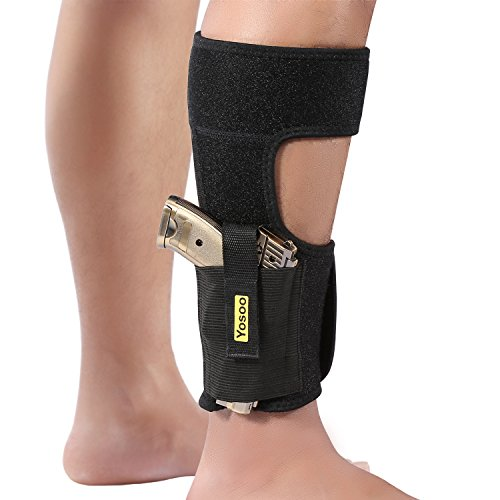 Yosoo Ankle Holsters with Magazine Pouch Concealed Carry Gun Holster Fits  Glock 42 43 27 19 17 26, Ruger LCP, Bodyguard 380, Revolvers, S&W, M&P