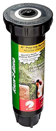 Rain Bird 1804VAN Professional Pop-Up Sprinkler, Adjustable 0 Degree - 360 Degree Pattern, 8' - 15' Spray Distance, 4' Pop-up Height