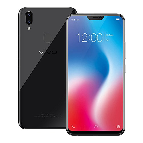 Vivo V9 4GB/64GB 6.3-inches Dual SIM Factory Unlocked - Taiwan Stock No Warranty (Pearl Black)