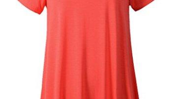 000eee8b99a Larace Women Short Sleeves Flare Tunic Tops For Leggings Flowy Shirt ...