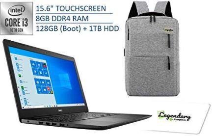 2020-Dell-15-3000-156-Inch-HD-Touchscreen-Premium-Laptop-10th-Gen-Intel-Core-i3-1005G1-Beats-i5-8250U-8GB-DDR4-128GB-SSD-Boot-1TB-HDD-Windows-10-S-Legendary-Computer-Backback-Mouse-Pad