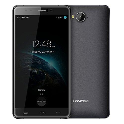Original Homtom HT10 4G LTE Mobile Cell Phone 5.5 Inch FHD Screen Helio X20 Deca Core 4GB RAM+32GB ROM 3200mAh Black