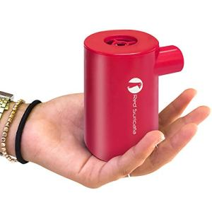 Red Suricata Rechargeable Air Pump – Mini Electric Air Pump for Inflatables – Air Mattress Pump – USB Battery Powered… 41jalvGKh L
