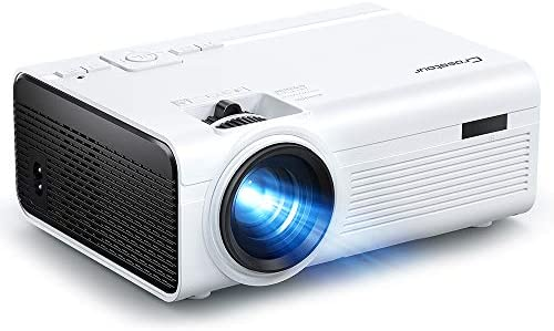 Projector, Crosstour Mini Portable Movie Projector Support 1080P Home Theater, Video Projector with 55,000 Hrs LED Lamp Life, Compatible with HDMI, RCA, USB, TF, TV Stick, PS4, iPhone