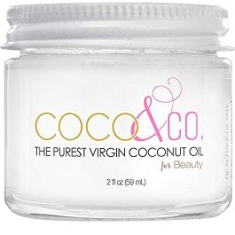 Extremely Pure, Odorless & Clear Coconut Oil for Skin & Hair, Beauty Grade – Mini Jar, by COCO & CO. (2oz)