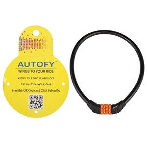 Autofy 4 Digits Universal Multi Purpose Steel Cable (Black and Orange) 18  Autofy 4 Digits Universal Multi Purpose Steel Cable (Black and Orange) 41jdNSxrLqL