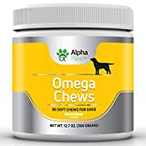 Alpha Paw Omega 3 6 9 for Dogs - Dog Omega 3 Supplement with Salmon + Salmon Oil + DHA + Flaxseed + Biotin - Dog Skin and Coat supplements - Allergy, Immune, Hip & Joint – 360 gm approx. 90 Soft Chews