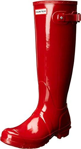 Hunter Women's Original Tall Gloss Snow Boot, Military Red, 8 B(M) US