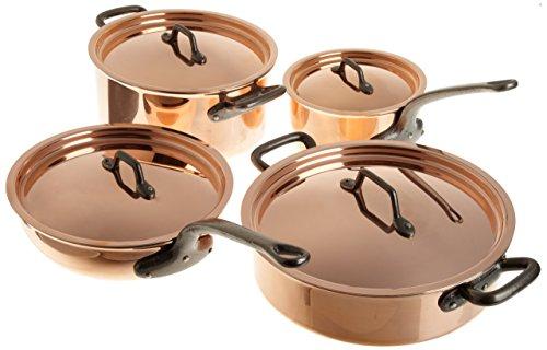 Matfer Bourgeat Matfer 915901 8 Piece Bourgeat Copper Cookware Set