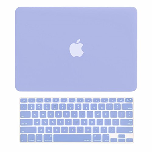 TOP CASE - 2 in 1 Rubberized Hard Case Cover and Keyboard Cover Compatible with MacBook Air 13' A1369 & A1466 - Not Compatible 2018 Version A1932 MacBook Air 13' Retina Display - Serenity Blue