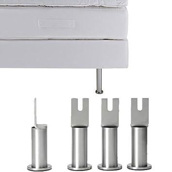Ikea Sultan Lot De 4 Pieds De Litmatelas En Acier