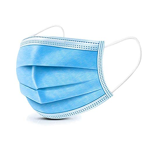 MSAAEX Disposable Face Masks for Air Air pollution, Dustproof Mouth Cowl, 3-ply Security Masks (50)