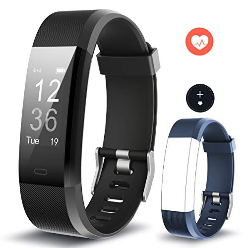 Muzili Fitness Band Activity Tracker Heart Rate Monitor IP68 Waterproof Smart Fitness Tracker Watch with Sleep Monitor Step Calorie Counter Stopwatch Call Message Notification