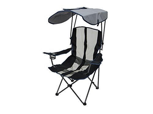 Kelsyus Original Canopy Chair - Foldable Chair for Camping, Tailgates, and Outdoor Events - Navy Stripe