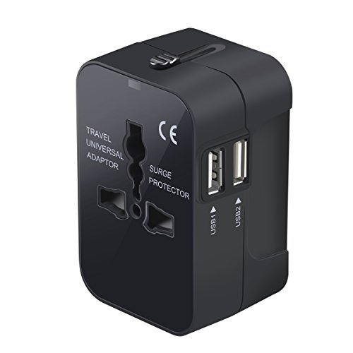 Travel Adapter, Worldwide All in One Universal Travel Adaptor Wall AC Power...
