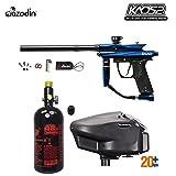 MAddog Azodin KAOS 2 HPA Paintball Gun Package A - Blue/Black