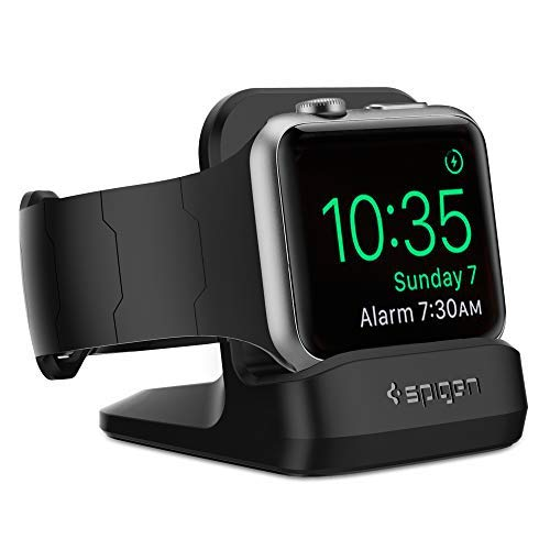 Spigen S350 Designed for Apple Watch Stand with Night Stand Mode for Series 4 / Series 3 / Series 2 / Series 1 / 44mm / 42mm / 40mm / 38mm, Patent Pending - Black