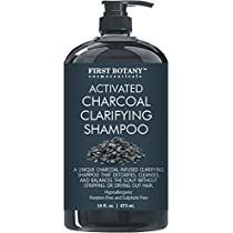 Activated Charcoal Shampoo 16 fl. oz - Sulfate Free - Volumizing & Moisturizing, Gentle on Curly & Color Treated Hair, for Men & Women. Infused with Keratin.