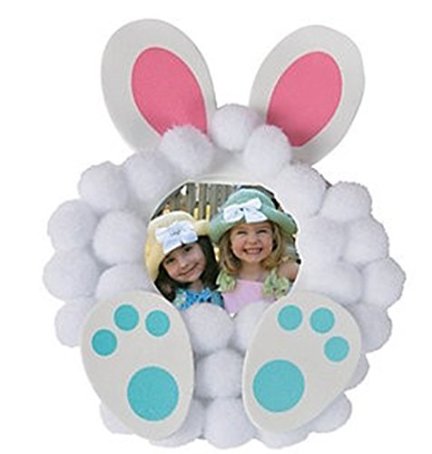 12 - Pom-Pom Bunny Picture Frame Magnet Craft Kits