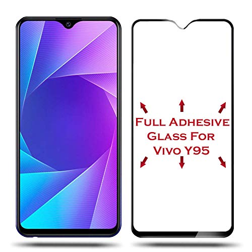 MODIK Vivo Y95 (2018) 6D (Next gen. of 5D) Full Edge to Edge 9H Hardness Crystal Clear Tempered Glass Screen Protector with Free Installation Cleaning Wipes [Black ] 4