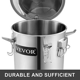 VEVOR-Moonshine-Still-Stainless-Steel-Water-Alcohol-Distiller-Copper-Tube-Home-Brewing-Kit-Build-in-Thermometer-for-DIY-Whisky-Wine-Brandy-3gal-Silver