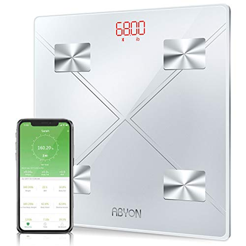 Upgraded 2019 - Bluetooth Smart Scales Digital Weight and Body Fat Bathroom Scale, Auto Monitor 11 Body Composition Analyzer with Smartphone APP - Perfect for Weight Lose Tracking or Health Management