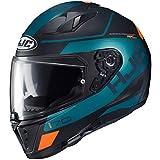 HJC i70 Helmet - Karon (Large) (Teal/Orange/Black)