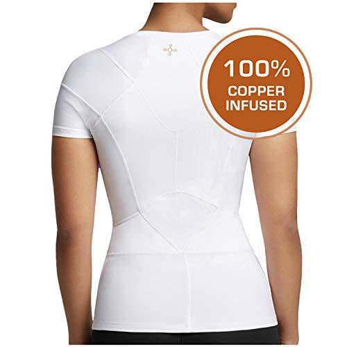 Tommie Copper - Women's Pro-Grade Short Sleeve Shoulder Support Shirt - White - Medium