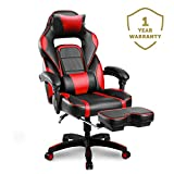 Merax Racing Office Desk Chair Gaming Ergonomic Chair Footrest Adjustable Armrests Home Office Computer Computer Chair