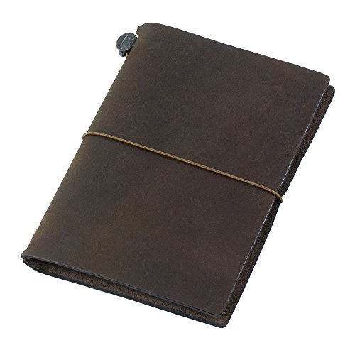 Midori Traveler's Notebook Journal Passport Size - Brown