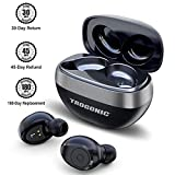 Wireless Earbuds, TROGONIC Bluetooth 5.0 IPX5 Wireless Bluetooth Earbuds with 35H Playtime, Deep Bass, Noise Cancelling with Built-in Dual Silicon Mic, Bluetooth Headphones with Portable Charging Case