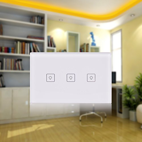 Smart Wifi Light Switch,Wireless Wall Touch Panel work with Alexa Echo