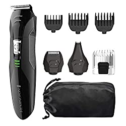 Remington PG6025 All-in-1 Lithium Powered Grooming Kit, Beard Trimmer (8 Pieces)  Image