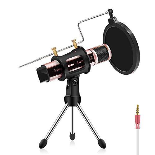 ZealSound Condenser Recording & Broadcasting Microphone
