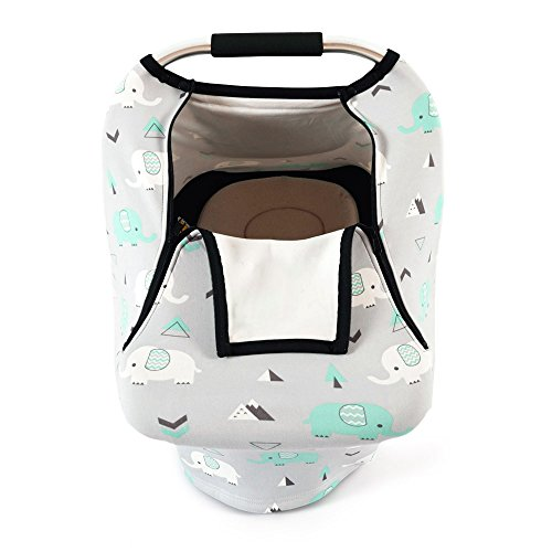 Wondrous Stretchy Baby Car Seat Covers For Boys Girls Infant Car Canopy Spring Autumn Winter Snug Warm Breathable Windproof Machost Co Dining Chair Design Ideas Machostcouk