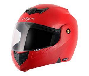 Vega Crux HE1283 Full Face Helmet (Red, L)