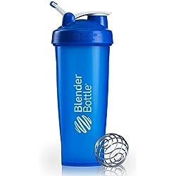 BlenderBottle Classic Loop Top Shaker Bottle, Blue/Blue, 32-Ounce Loop Top