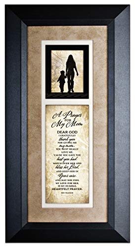 James Lawrence A Prayer for My Mom Wood Wall Art Frame Plaque   8 inches x 16 inches
