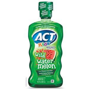 ACT Kids Anticavity Fluoride Rinse Wild Watermelon 16.9 Ounce 41kqQsB27aL