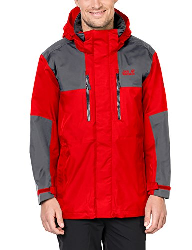 Jack Wolfskin Men's Jasper Flex Jackets, Fiery Red, 3X-Large