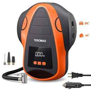 TEROMAS Tire Inflator Air Compressor, Portable DC/AC Air Pump for Car Tires 12V DC and Other Inflatables at Home 110V AC… 41krkMlyqFL bestsellers Bestsellers 41krkMlyqFL