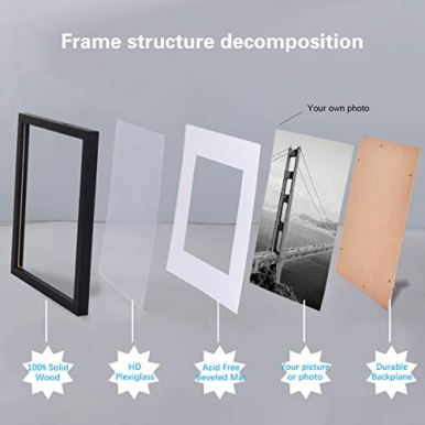 FRAMICS-4-Pack-8x10-Picture-Frames-with-4-Mats-2-Mats-Display-5x7-and-2-Mats-Display-4x6-Photos-Black-Picture-Frames-Made-of-Solid-Wood-for-Wall-Mounting-or-Table-Top