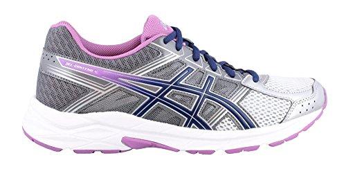 ASICS Women's Gel-Contend 4 Running Shoe, Silver/Campanula/Carbon, 8.5 D US