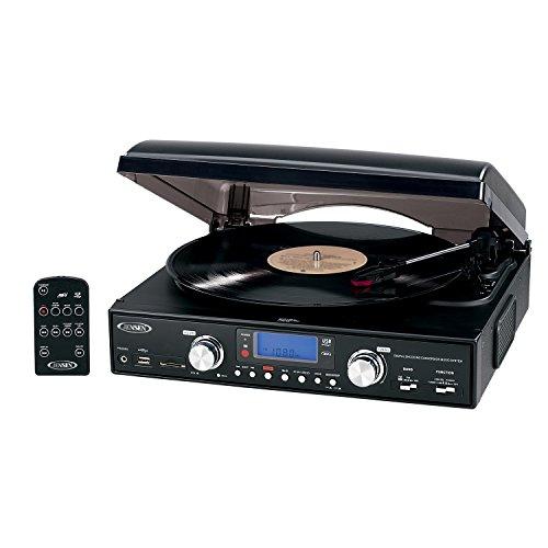 JENJTA460 - JENSEN JTA-460 3-Speed Stereo Turntable with MP3 Encoding System
